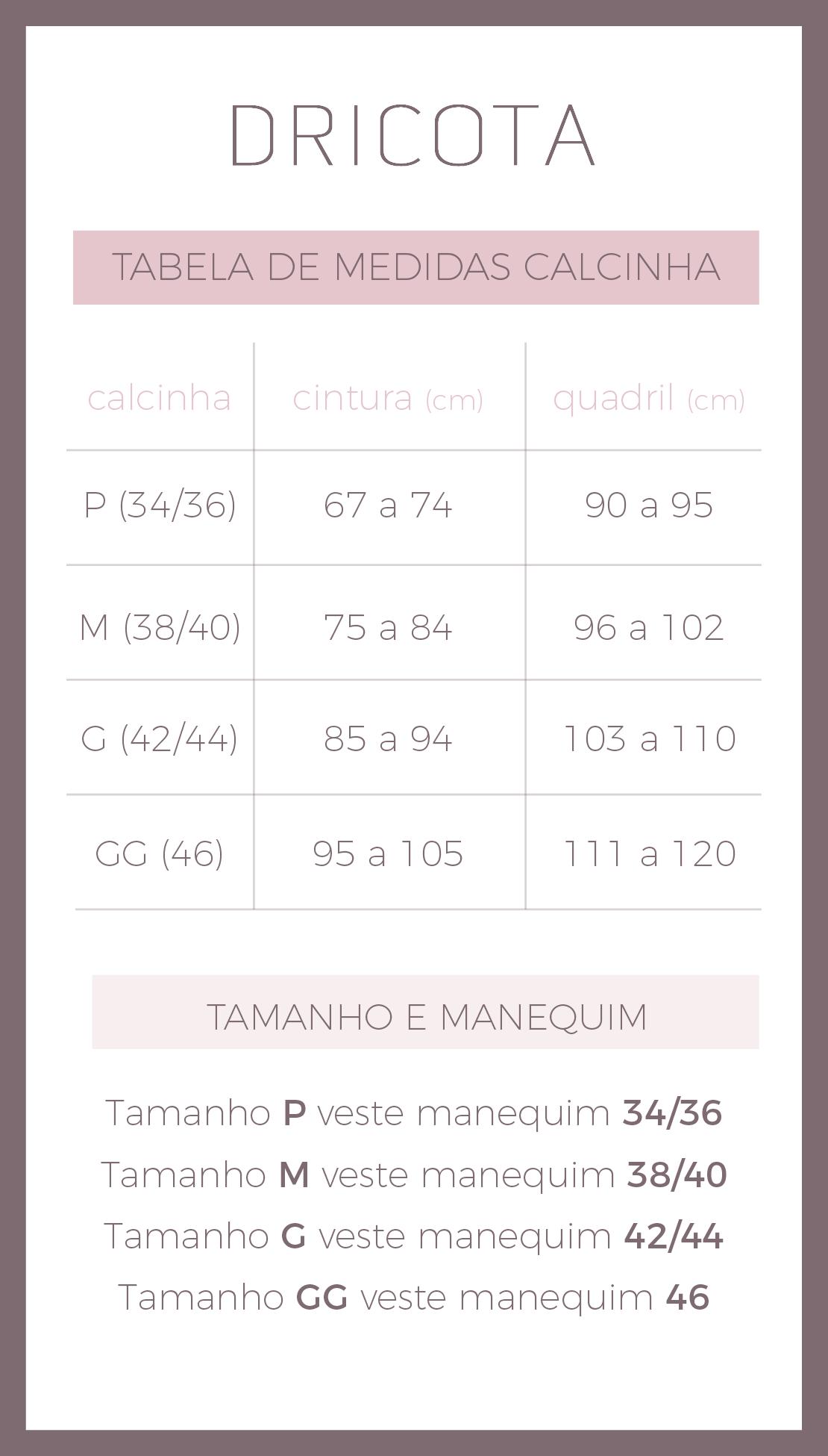 396b15dad tabela de calcinha